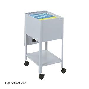 Safco Economy Mobile Tub File, Letter Size Gray