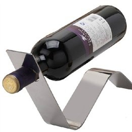 Stainless Steel Wave Shape Metal Wine Bottle Holder front-1065201