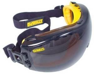 3 X Dewalt Dpg82-21c Concealer Smoke Anti-fog Dual Mold Safety Goggle