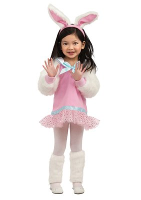 Rubie'S Let'S Pretend Pink Bunny Costume - Toddler (1- 2 Years) front-718883