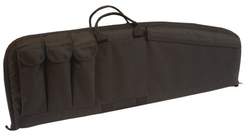 Uncle Mike's Law Enforcement 33-Inch AR15/M4 Tactical Rifle Case with Three Magazine Pouches (Medium, Black)