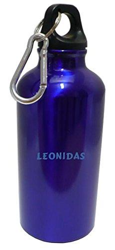 personalizada-botella-cantimplora-con-mosqueton-con-leonidas-nombre-de-pila-apellido-apodo