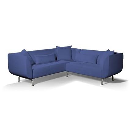 Dekoria Strömstad 3+2-Sitzer Sofabezug blau