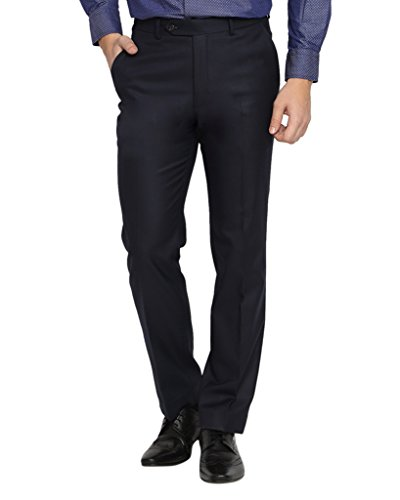 SUITLTD Blue Solid Slim Fit Trouser - B01BQ5OQ8Y