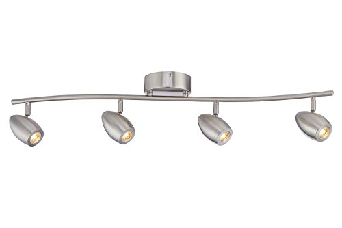 Designers fountain evt101727 35 modern 3 brushed nickel led track designers fountain evt101727 35 modern 3 brushed nickel led track lighting kit with 4 led track aloadofball Image collections