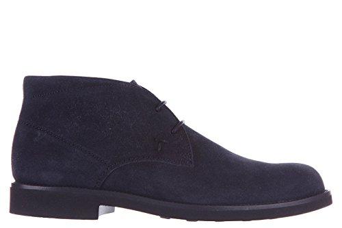 Tod's polacchine stivaletti scarpe uomo camoscio gomma light blu EU 40 XXM0WP00D80RE0U805