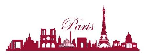 Style & Apply - Paris Skyline - wall decal, sticker, mural vinyl art home decor