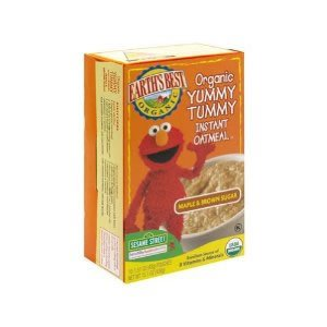 Earths Best Sesame Street Org Maple & B/Sugar Instant Oatmeal (12x15.1 OZ) ( Value Bulk Multi-pack)