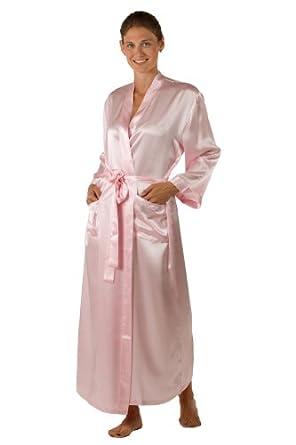 Women's Silk Robe Bathrobe (La Perla Naturale) 100% Silk Classic Gift