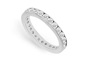 Cubic Zirconia Eternity Band .925 Sterling Silver 0.75 CT TGW