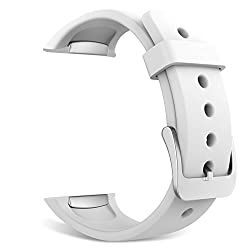 Gear S2 Watch Band, MoKo Soft Silicone Replacement Sport Band for Samsung Galaxy Gear S2 Smart Watch - WHITE (Not Fit Gear S2 Classic SM-7320 version)