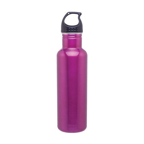 Stainless Steel Water Bottle Canteen - 24Oz. Capacity - Fuchsia front-1066592
