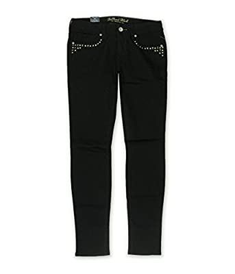 Bullhead Denim Co. Womens Premium Skinniest Studded Skinny Fit Jeans
