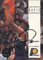 Antonio Davis Indiana Pacers 1994 Skybox Autographed Hand Signed Trading Card. by Hall+of+Fame+Memorabilia
