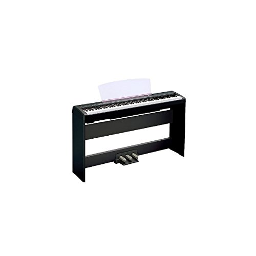 Yamaha P-105 88-Key Weighted-Action Digital Piano With L85 Wood Stand Black (Black)