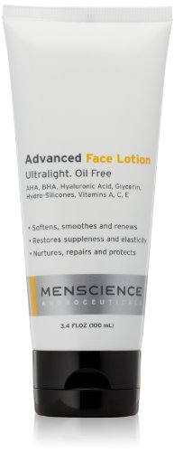 MenScience Androceuticals Advanced Face Lotion, 3.4 fl. oz.