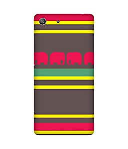 Stripes And Elephant Print (29) Sony Xperia M5 Case