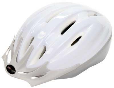Buy Low Price Airius V-10 Helmet, Medium / Large – White/Silver (V-10)