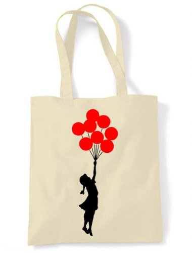 Banksy Ballon Girl Eco Friendly Tote  Shoulder