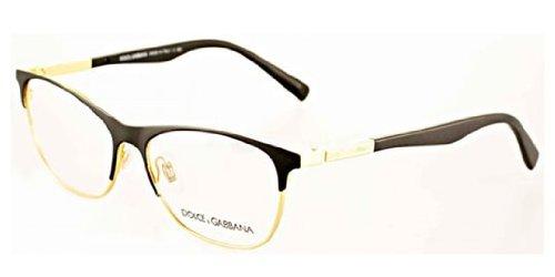 Dolce & Gabbana Dg1246 Eyeglasses-1220 Matte Black/Gold-53Mm