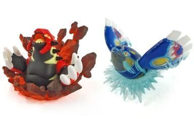 Pokemon Omega Ruby alpha sapphire benefits Original Figure Set of 2 Gen Shi Groudon + Gen Shi Kyogre [privilege only] (Kyogre Figure compare prices)