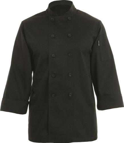 Chef Works Bast Bastille Basic Chef Coat, Black, Large