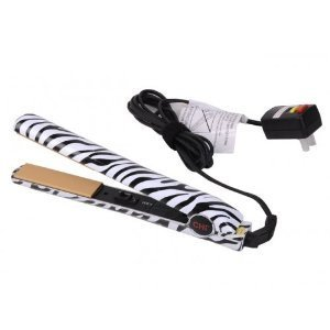 CHI Tribal Zebra Collection Ceramic Hairstyling Iron,Black / White
