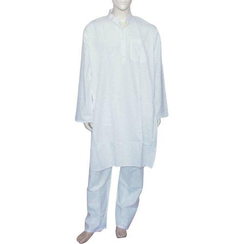 Cotton Clothing Kurta Pajama for Meditation Chest 116 Cms (XL/44)