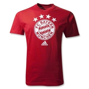 adidas Bayern Munich 11/12 Distressed Crest T-Shirt