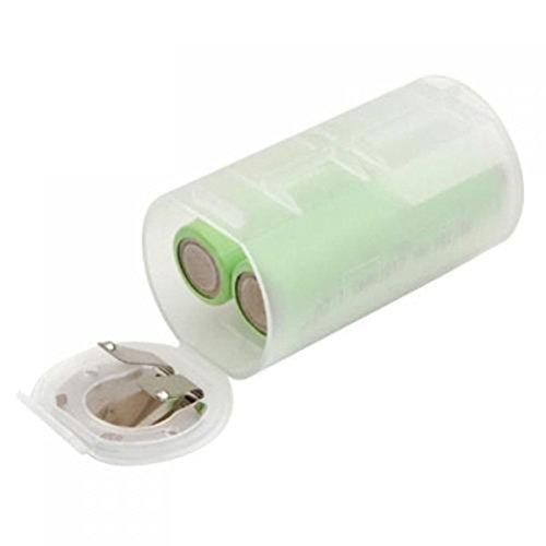 Foxnovo Portable taille AA taille D batterie adaptateurs convertisseur cas (1 transparente)