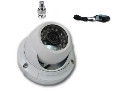 CMVision CMD700 Sony Effio-E 700TVL with OSD Menu 24pc LED Vandalproof IR Dome Camera 3.6mm Wide Angle lens with Free 1A 12V DC Power Adaptor , RCA to BNC Connector