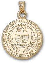 "Georgia Tech Yellow Jackets ""Seal"" Pendant - 14KT Gold Jewelry"