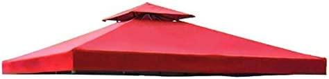 Durable 839 x 839 Feet 96-inch Square Red Polyester Fabric Garden Canopy Gazebo Replacement Top 2-Ti