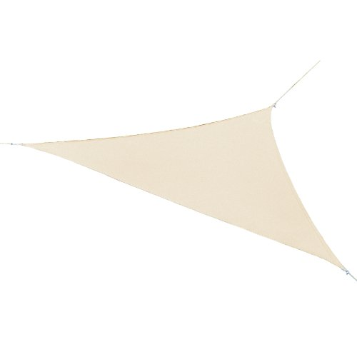 Coolaroo Ready to Hang Triangle Shade Sail Canopy, Pebble, 11-Feet 10-Inch Triangle