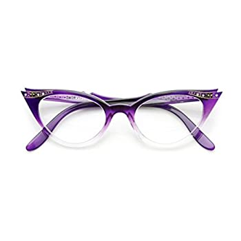 Cateye or High Pointed Eyeglasses or Sunglasses Vintage Inspired Fashion