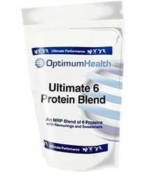 Optimum Health Ultimate 6 Protein Blend - 2kg - Strawberry