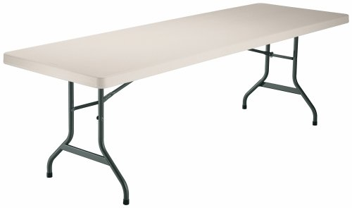 Lifetime 8-Foot Utility Table with 96-by-30-Inch Molded Top, Almond