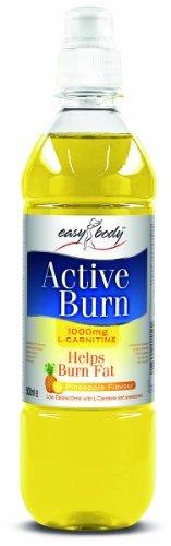 Easy Body Active Burn 500 ml Pineapple Fat Burn Support Drink - 12 x Bottles
