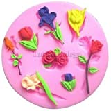JoyGlobal Flower Leaf Silicone Fondant Mould Chocolate Baking Mold Cake Sugarcraft DIY