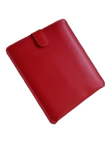InnoVeee iPad 1 & 2 PU Sleeve Cover Carrying Case for Apple iPad 1 & iPad2 3G Wifi 16GB 32GB 64GB (RED COLOR) SPECIAL PROMO PRICE.