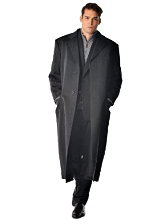 Men S Full Length Overcoat In Pure Cashmere In Portly Size