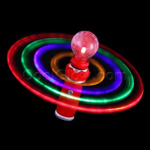 Led galaxy spinner wand toys games for Light up fishing spinners