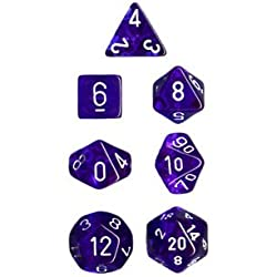 Polyhedral 7-Die Translucent Dice Set - Blue