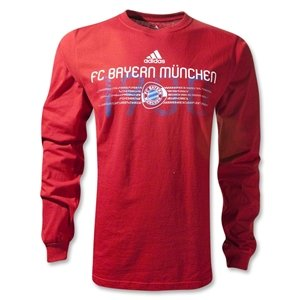adidas Bayern Munich Long Sleeve EST Date T-Shirt