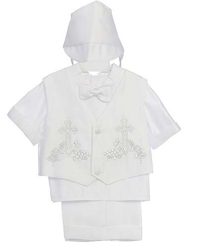 Fine Brand Shop Christening Baby Boy Short Tuxedo Suit, Special occasion suit