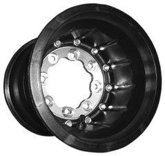 Hiper Wheel Tech 3 ATV Carbon Fiber Wheel - Front - Single Beadlock - 10x5 - 4+1 Offset - Black , Material: Carbon Fiber 1050-HCFF-SBL-BK
