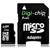 Digi-Chip HIGH SPEED 32GB UHS-1 CLASS 10 MICRO-SD MEMORY CARD FOR SAMSUNG GALAXY FIT S5670, GIO S5660, MINI S5570, W 18150 , WONDER, S5690, XCOVER, Y S5360 , S5610, I9000, I9003, SL, GALAXY J, Win Pro G3812 MOBILE PHONE