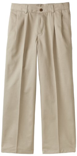 IZOD Big Boys' Uniform Twill Pant, Khaki, 10R