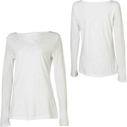 Horny Toad Women's Swoon-Drape Shirt, White, Small