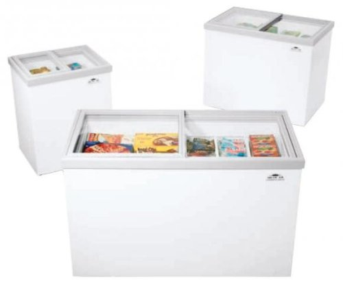 "Arctic Air ST20G 62"" Commercial Glass Top Freezer"